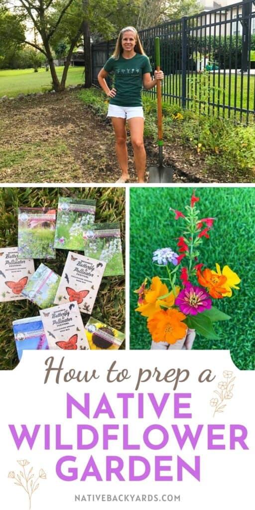How to prep a native wildflower garden.